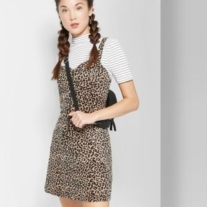 New WILD FABLE Animal Print Corduroy Dress sz XS